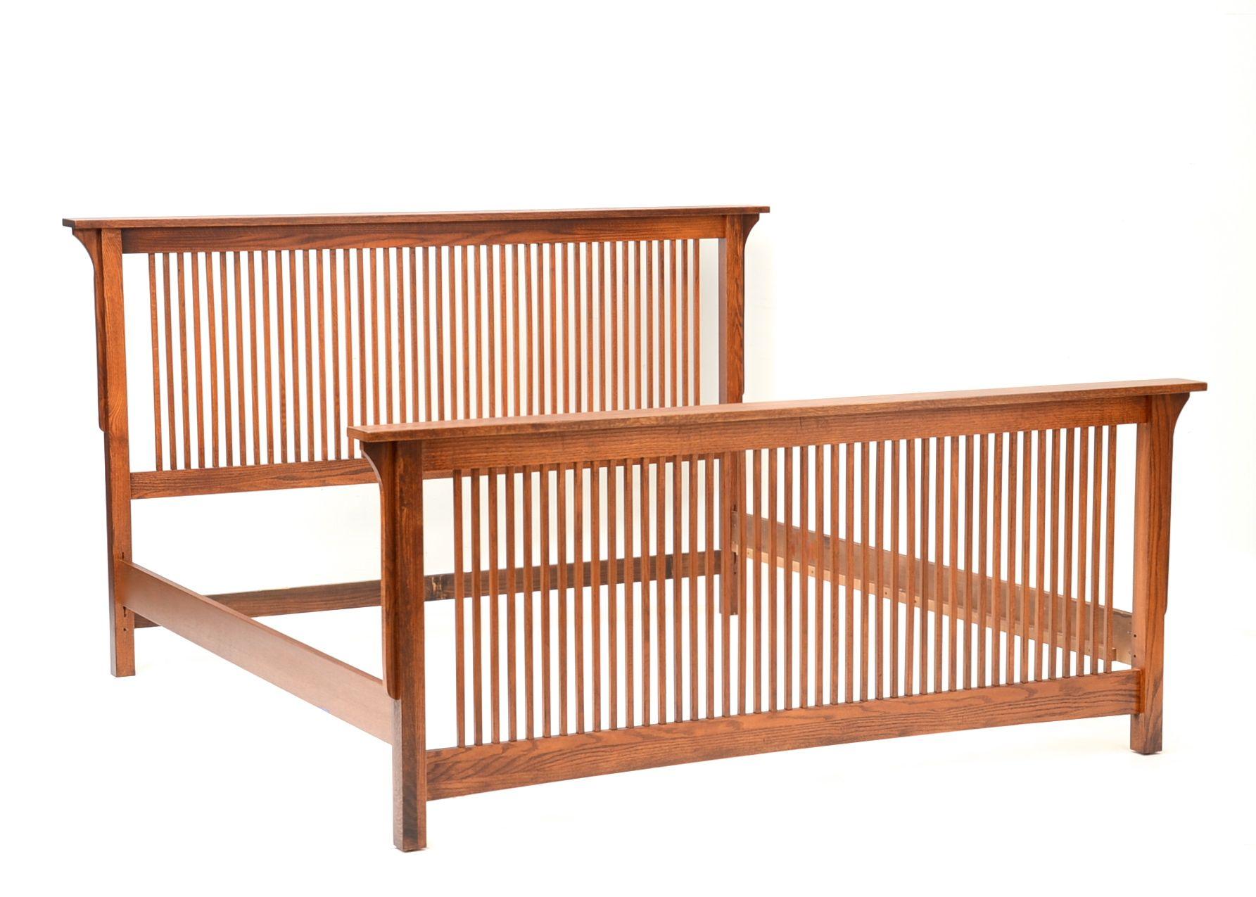 Mission Style KingSized Bed Frame in Oak EBTH