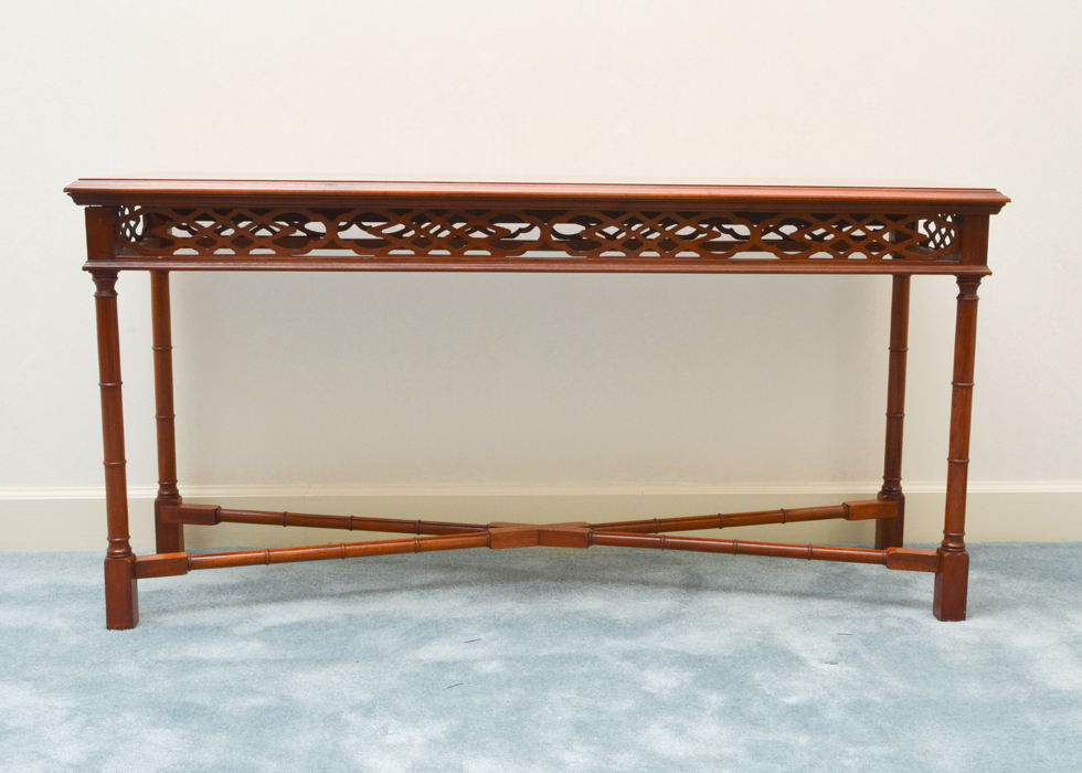 Chinese Chippendale Style Console or Sofa Table EBTH