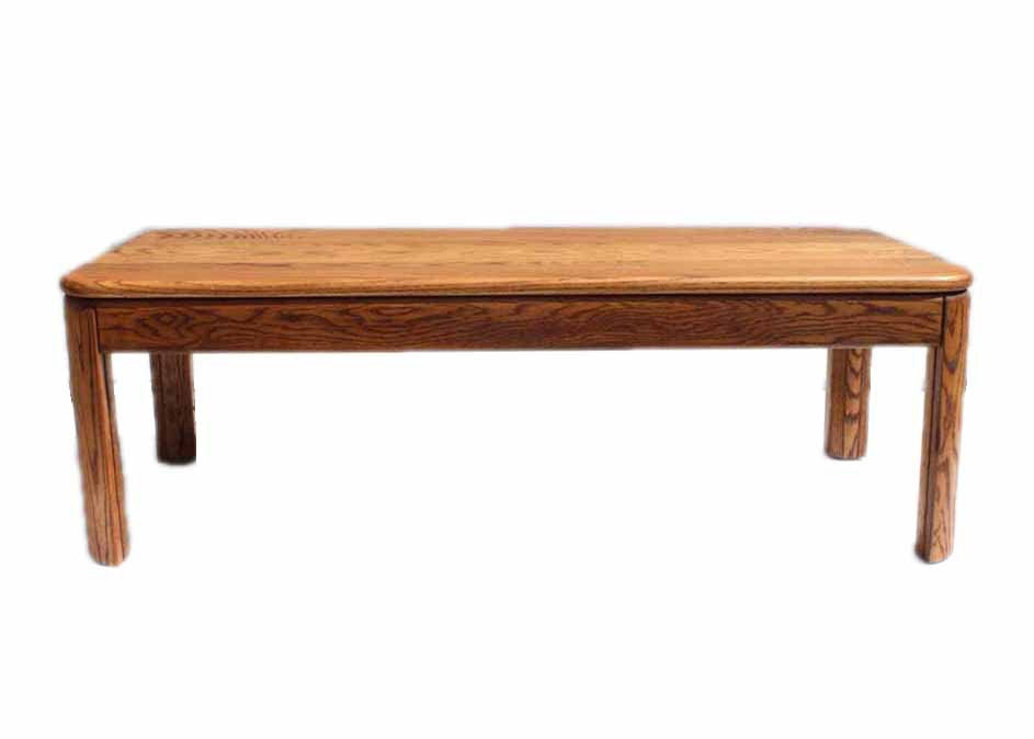 Honey oak coffee table ebth Honey oak coffee table