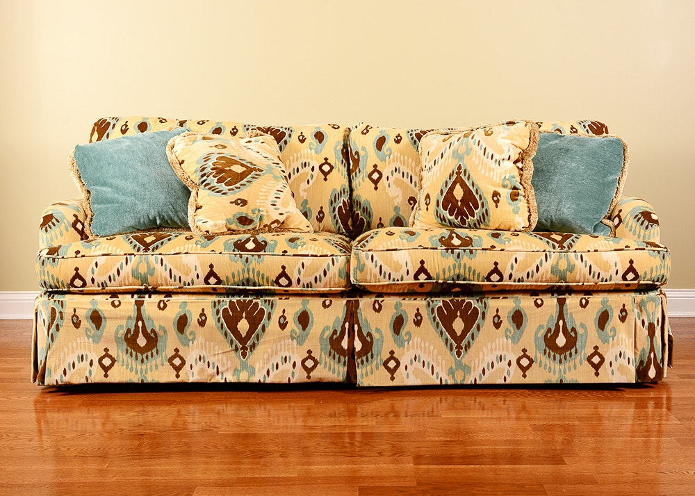 Pearson Brand Tan Fabric Couch