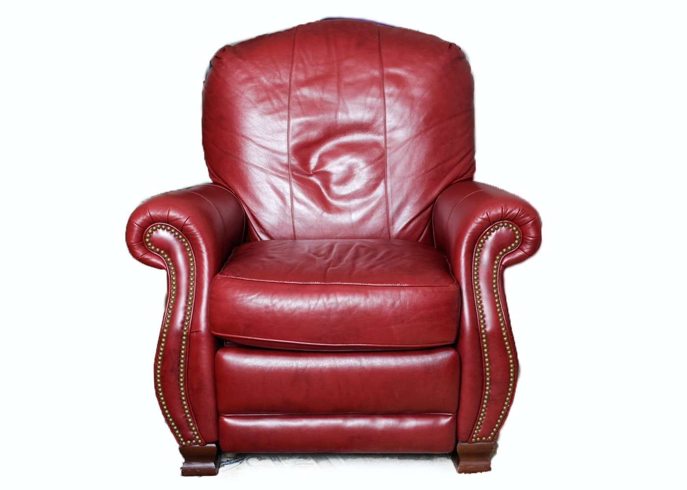 Bradington Young Red Leather Recliner ...  sc 1 st  Everything But The House & Bradington Young Red Leather Recliner : EBTH islam-shia.org