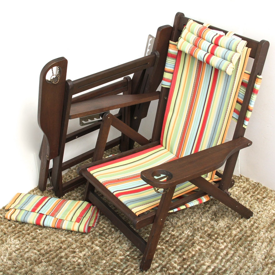 Pair Of Pottery Barn Beach Chairs