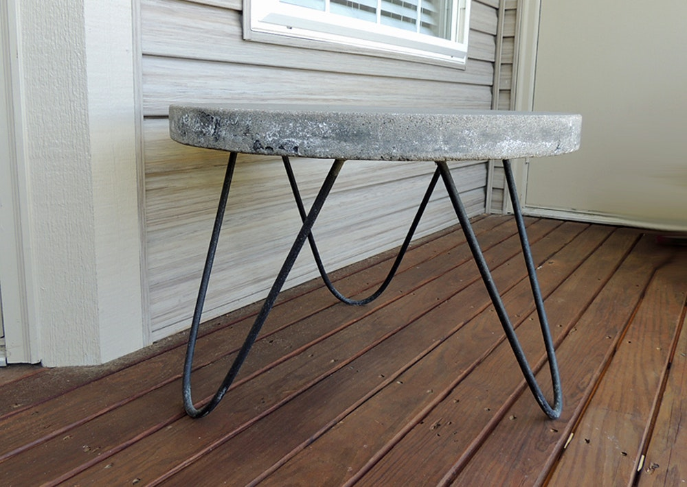 Concrete Patio Side Table ...