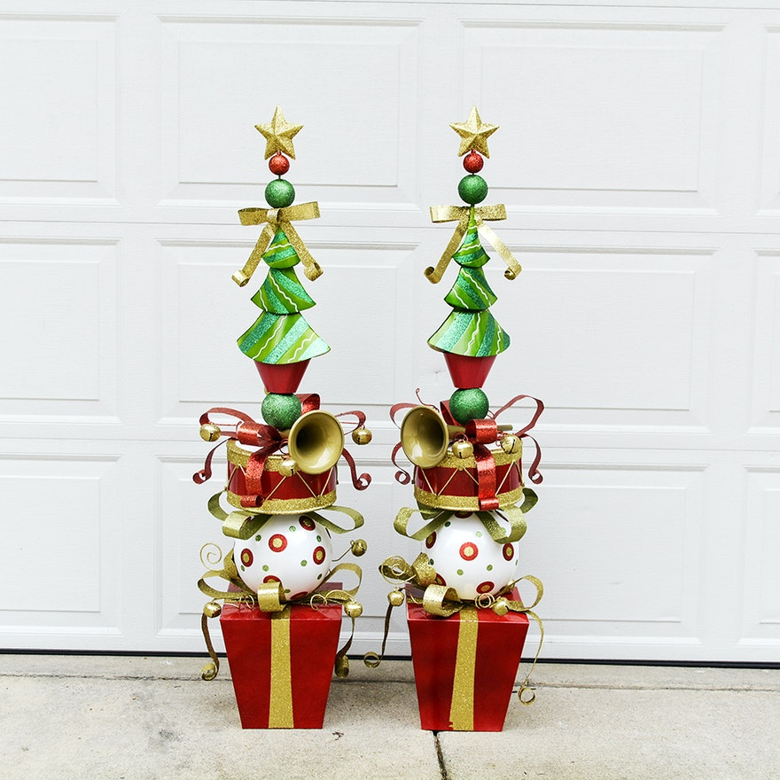 Whimsical Christmas Ornaments.Whimsical Large Christmas Decorations