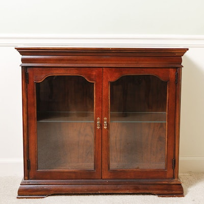 Cherry Curio Cabinet - Vintage And Antique Cabinets Auction In Atlanta, Georgia Personal