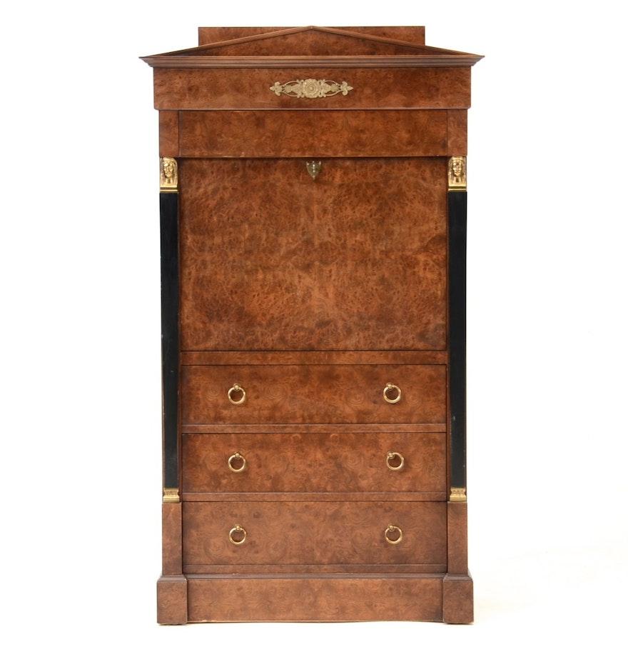 baker furniture biedermeier style secretary desk antique home office furniture fine