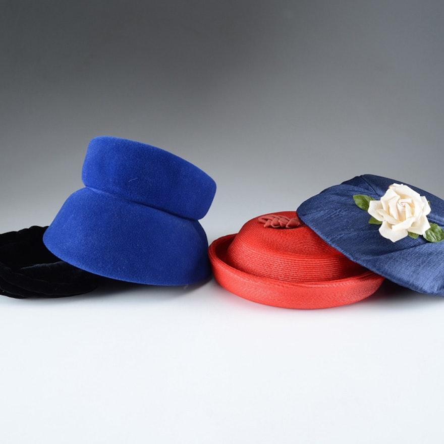 ee2d54c5e79 Four Women s Vintage Hats and Hat Boxes   EBTH