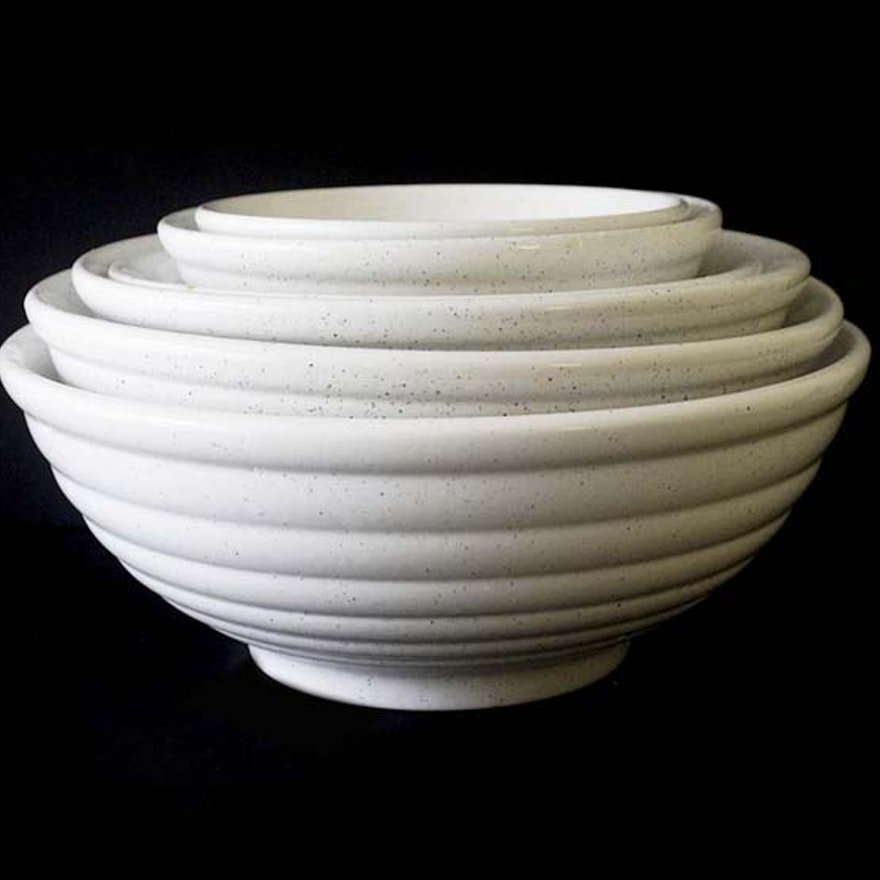Hand-Painted Ceramic Tre Ci Italian Nesting Bowls : EBTH