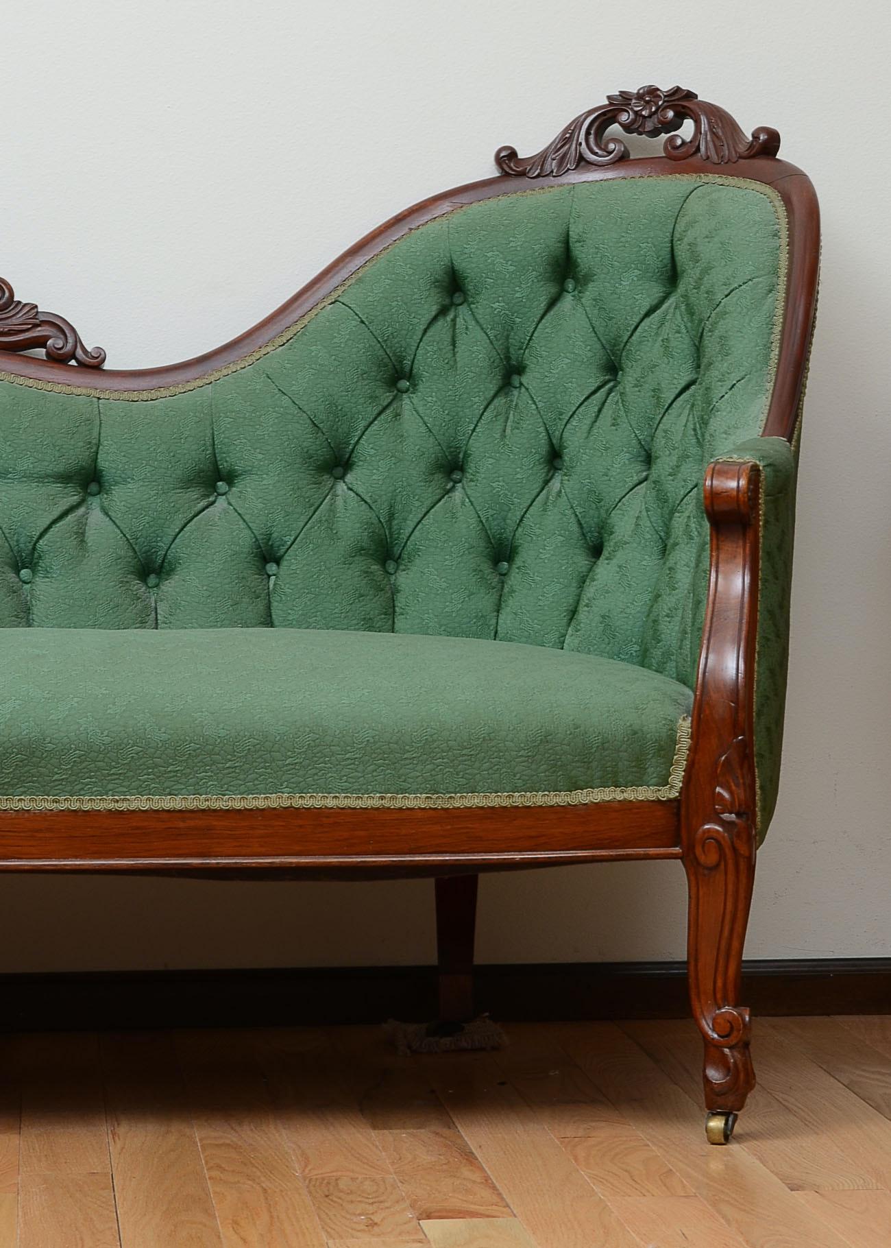 Victorian Rococo Revival Sofa Ebth