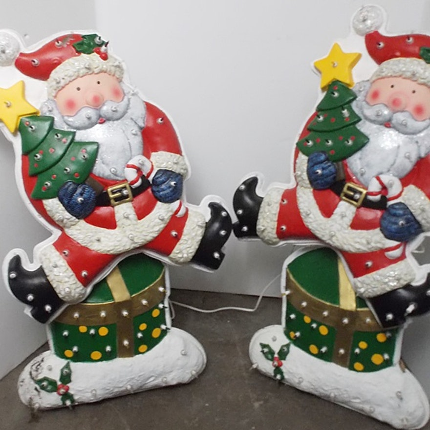 two led lighted motorized dancing santa ornament - Motorized Christmas Decorations