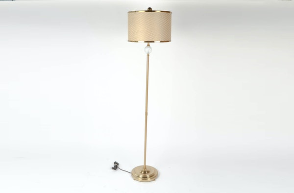 Gold tone floor lamp ebth for Silver tone floor lamp