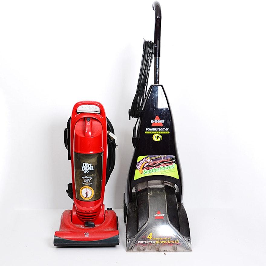 Dirt Devil Vacuum And Bis Carpet Cleaner