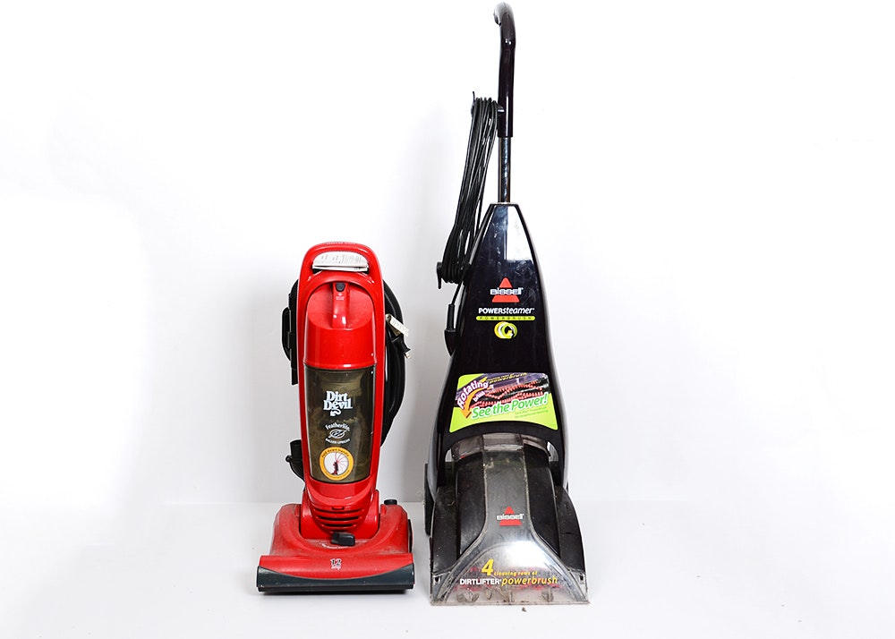 dirt devil vacuum and bissell carpet cleaner