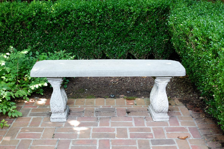 Cement Garden Bench ...