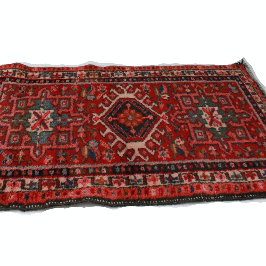 Red and navy handknotted accent rug ebth for Red and navy rug