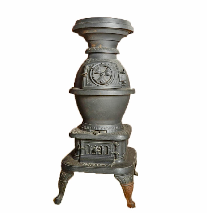 Antique Washington Stove Works Pot Belly Stove : EBTH