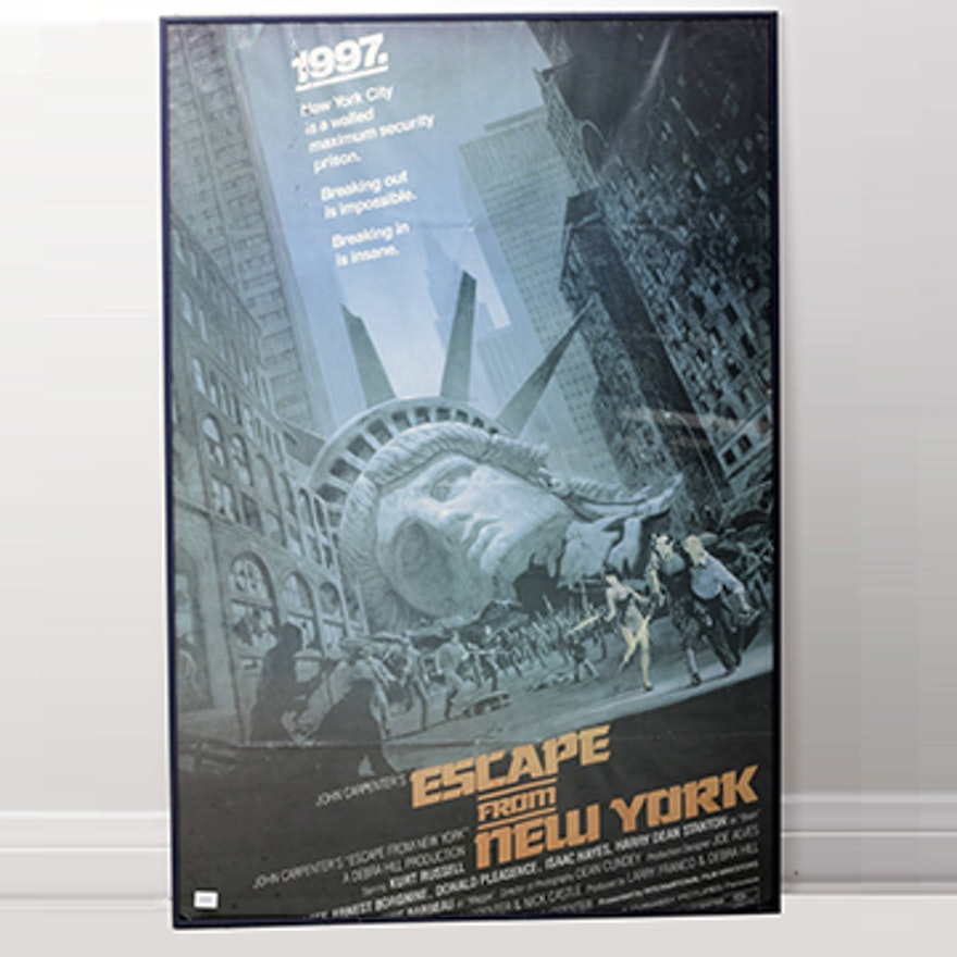 Escape From New York Poster.Framed Escape From New York Poster Ebth