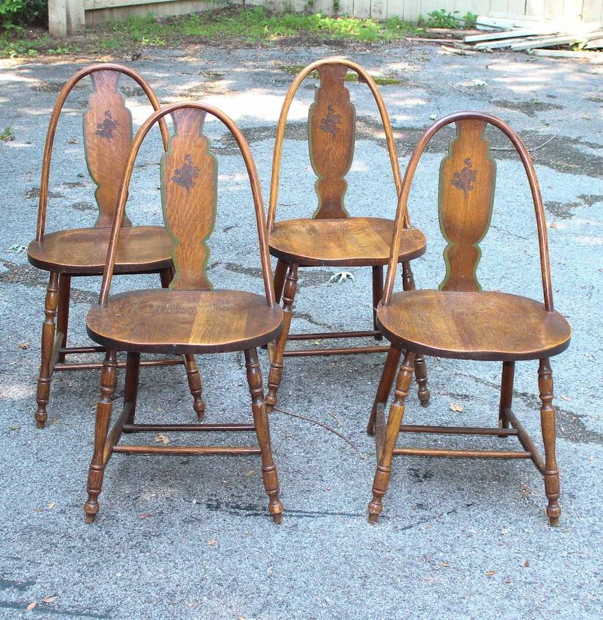 Phoenix Chair Company Set Of Four Wood Chairs EBTH