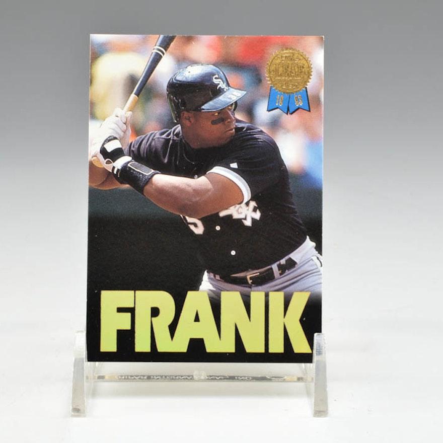Frank Thomas 1993 Leaf Card With Autograph