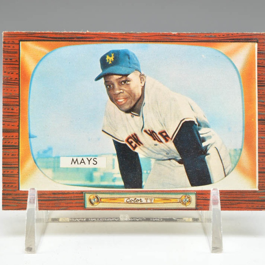 1955 Willie Mays New York Giants 184 Bowman Card