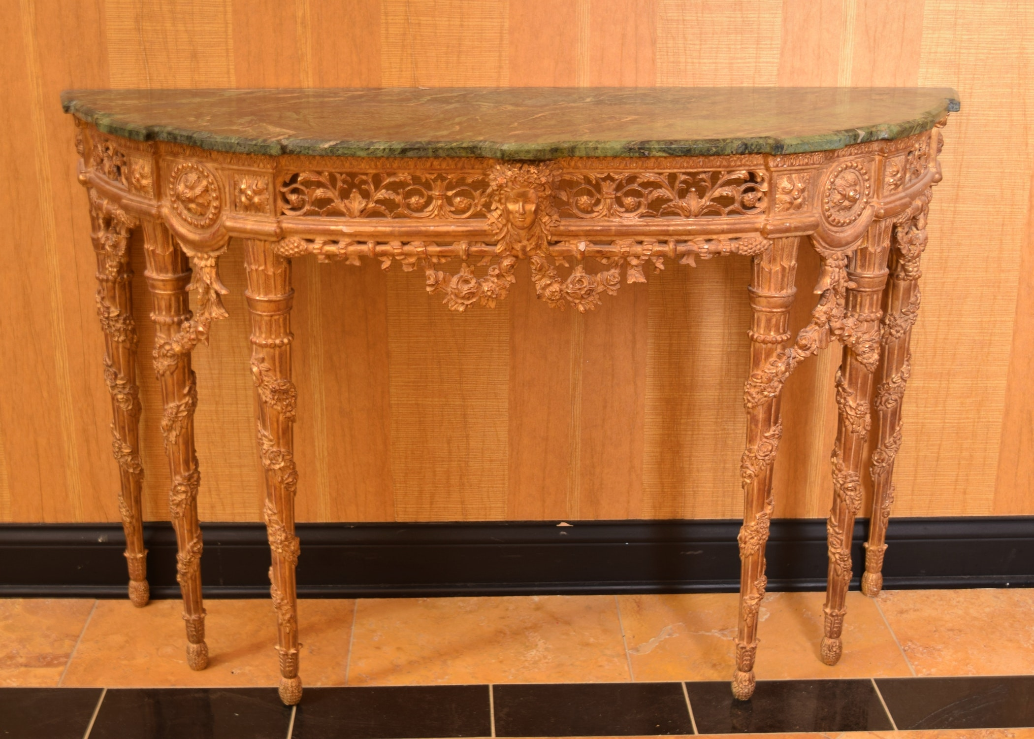 Antique Italian Marble Top Console Table ...