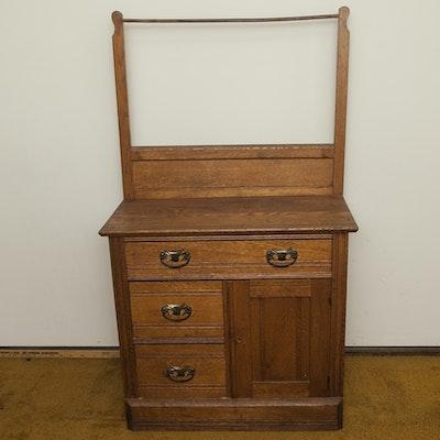Antique Oak Washstand - Online Furniture Auctions Vintage Furniture Auction Antique