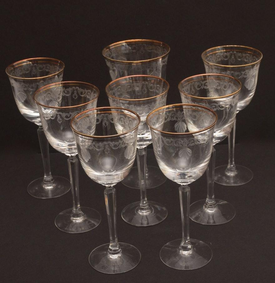 Set Of Seven Lenox Wine Glasses Ebth