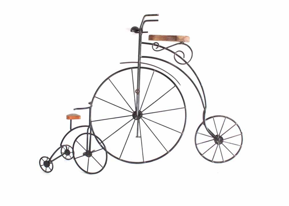 Wrought iron bicycle wall art and decor ebth - Wrought iron bicycle wall art ...