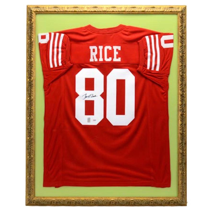 6cebc1220a0 Jerry Rice Signed Jersey COA : EBTH