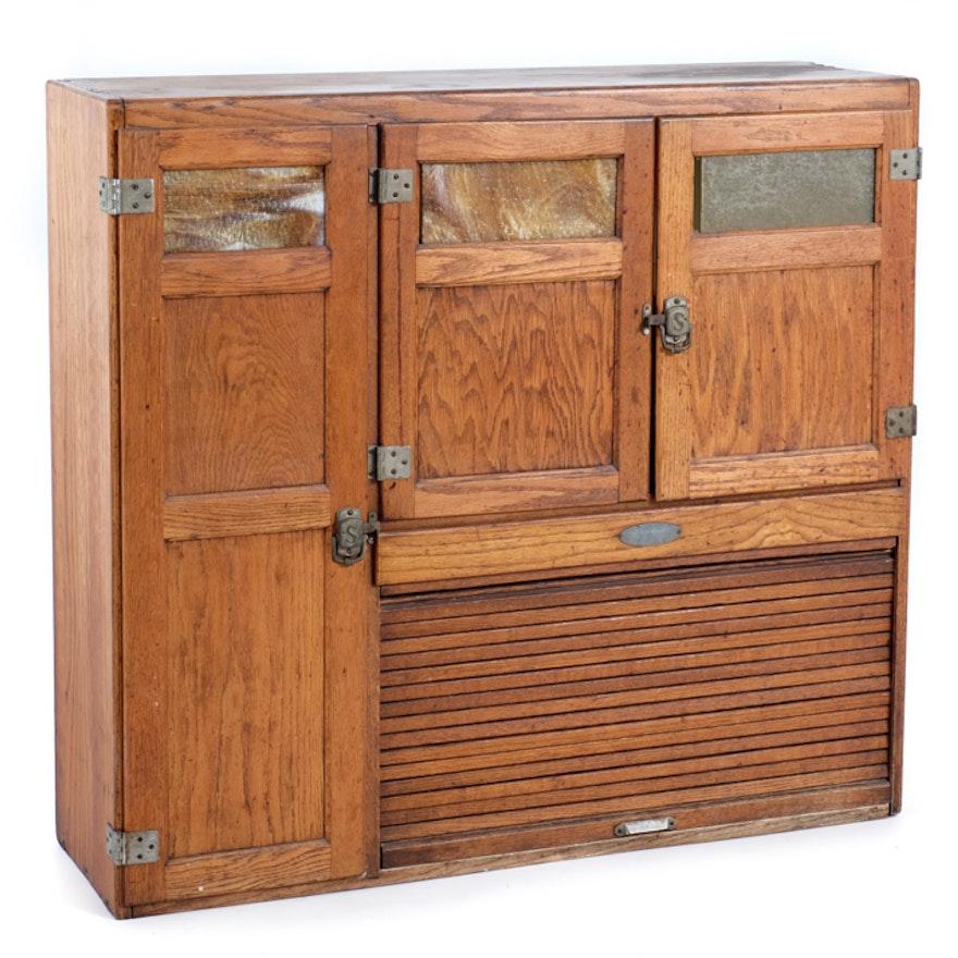 Antique Hoosier Cabinet Top Half ... - Antique Hoosier Cabinet Top Half : EBTH