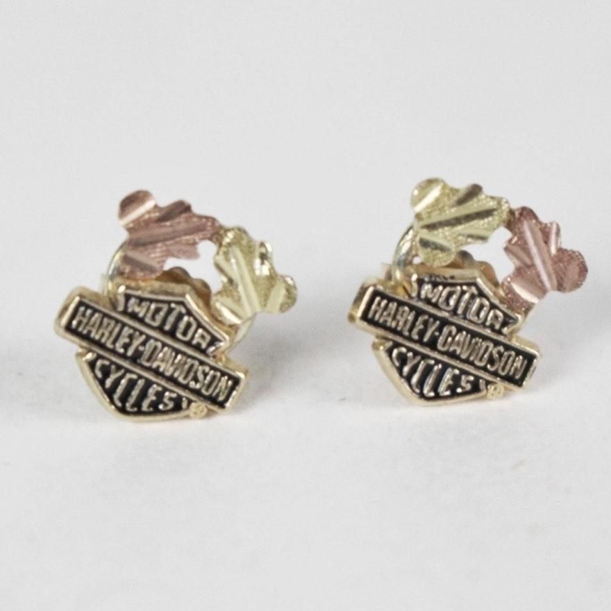 254dab4ea Black Hills Gold Harley Davidson Post Earrings | EBTH