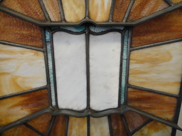 1923 stained glass vestibule ceiling panel ebth