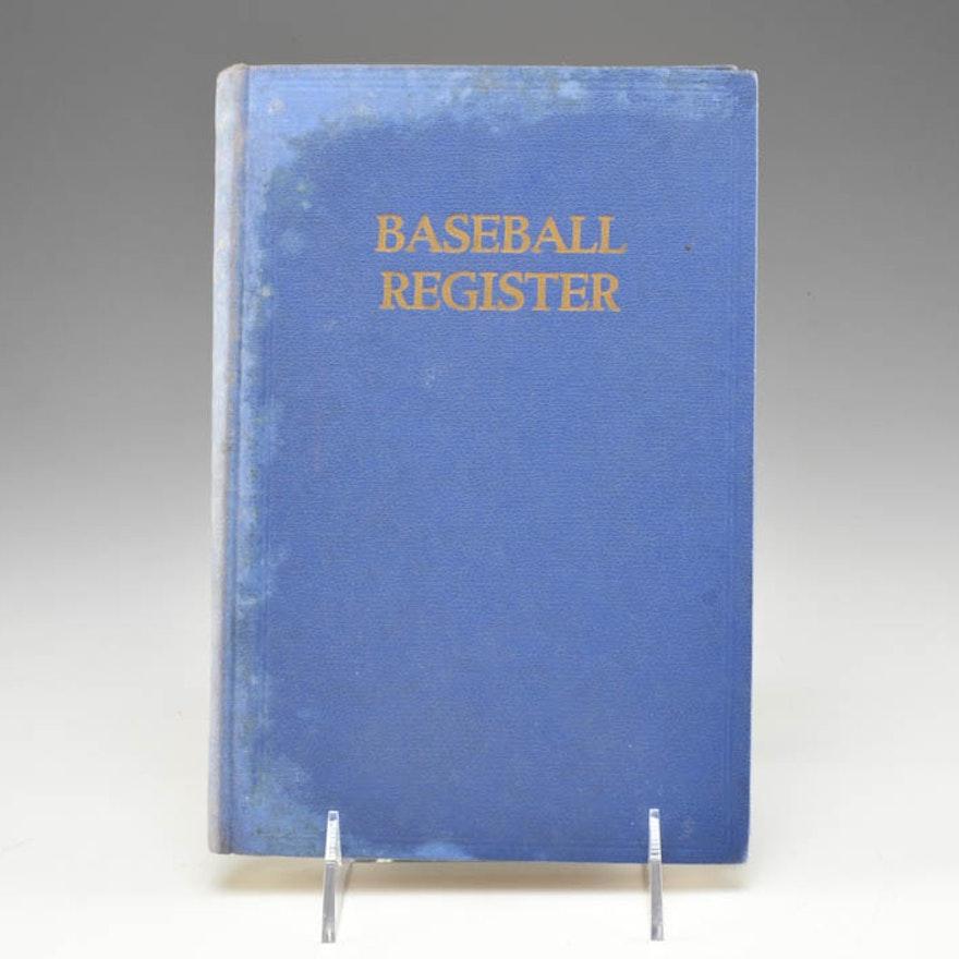 pre war 1940 baseball register hardbound book ebth