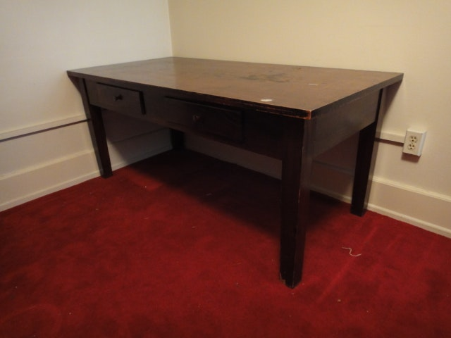 Large Vintage Desk Writing Table