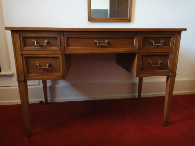 Mid Century Walnut Desk Writing Table