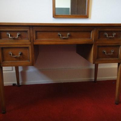 Mid Century Walnut Desk Writing Table - Vintage Desks, Antique Desks And Used Desks Auction In Dayton, Ohio