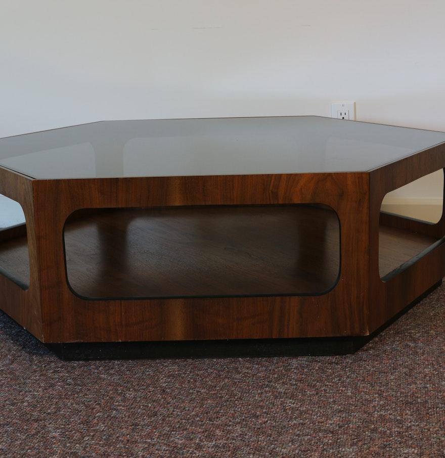 Lane Blonde Coffee Table: Lane Danish Modern Hexagonal Coffee Table : EBTH