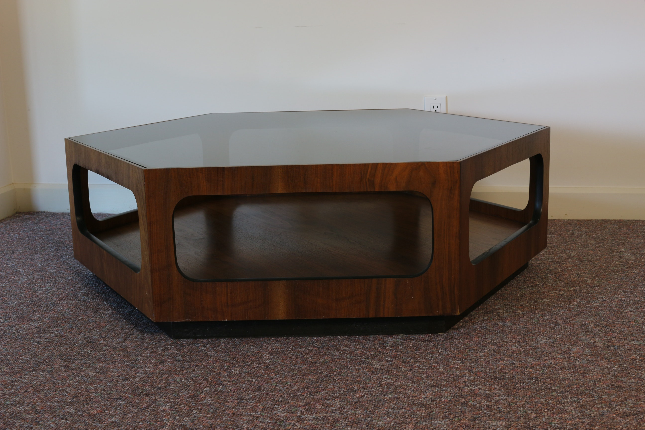Lane Danish Modern Hexagonal Coffee Table ...