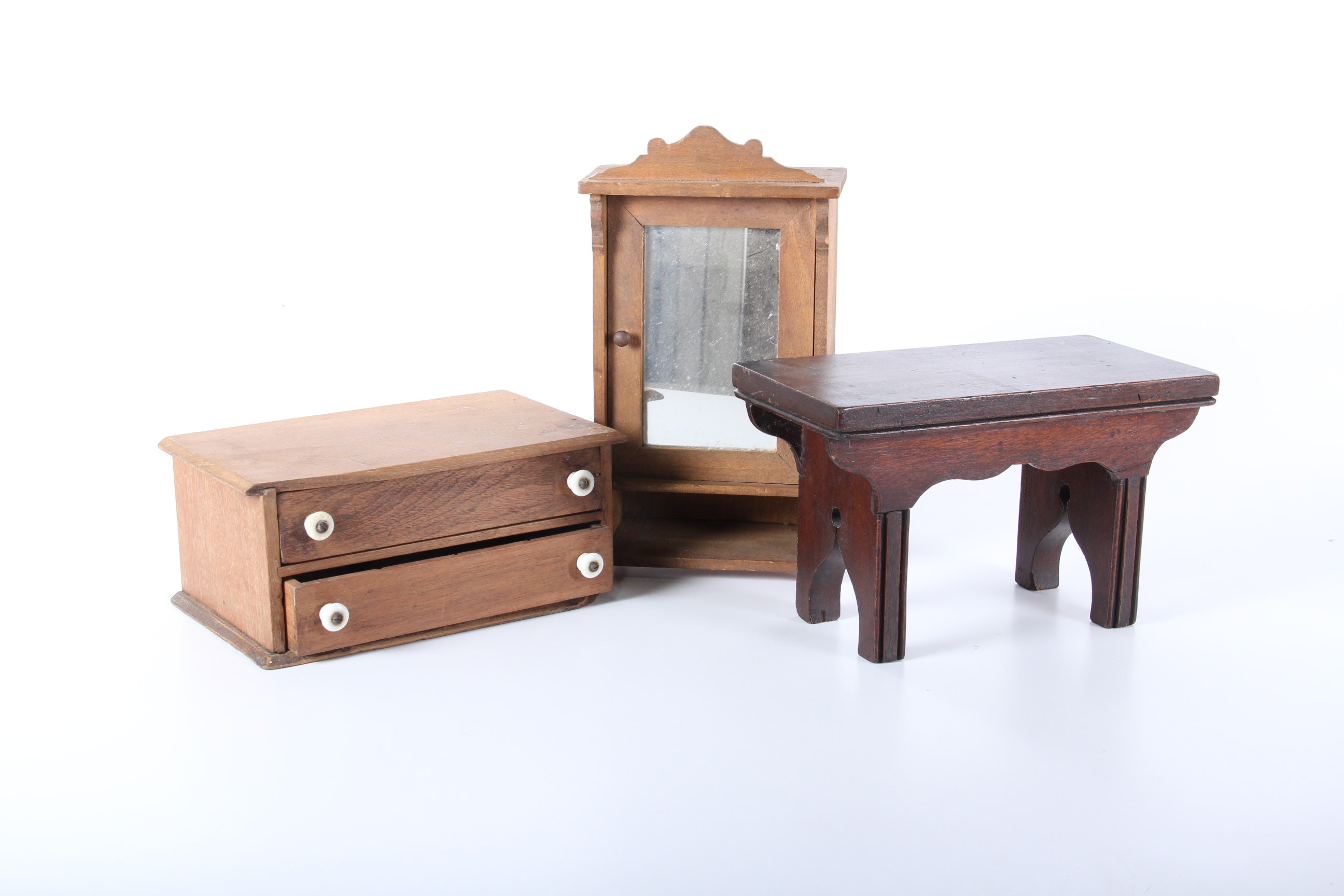 Wooden Antique Doll Furniture