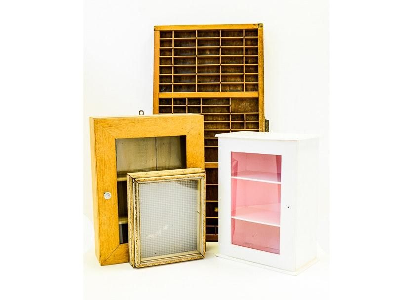 Antique And Vintage Knick Knack Miniatures Shelves Display ...