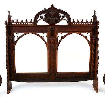 Antique Gothic Buffet Mirror - Furniture Auctions Online Antique Furniture Auctions In Cincinnati