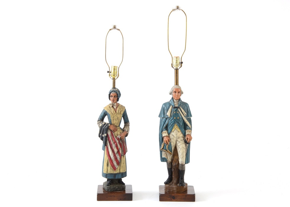 George Washington And Betsy Ross Lamps ...