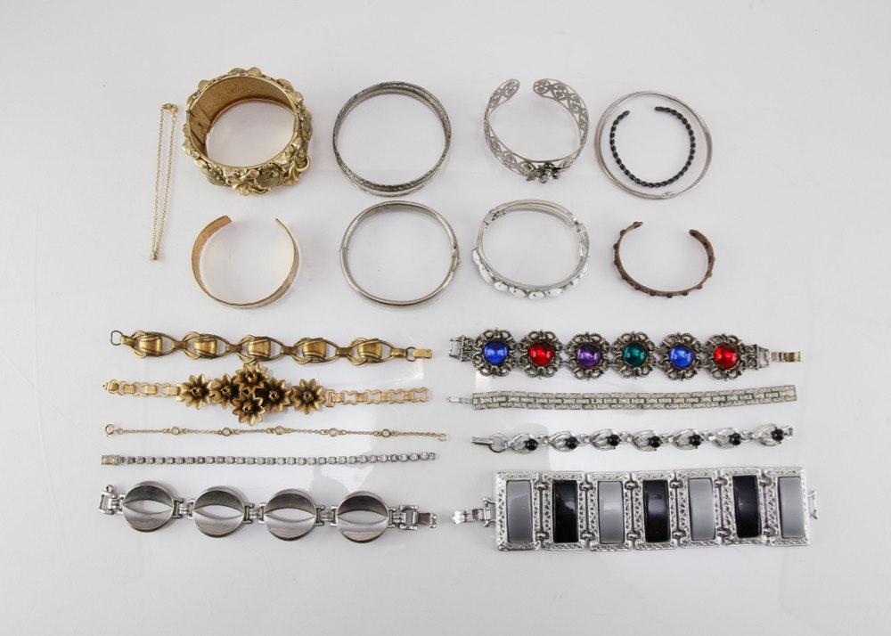 Vintage Costume Bracelets 70