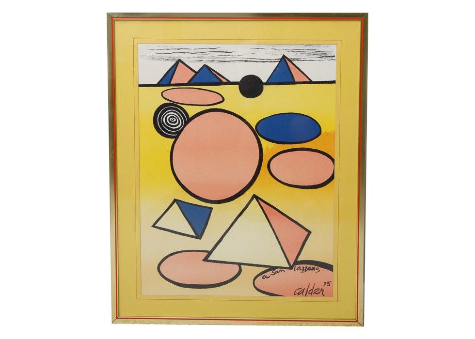 Alexander Calder Quot A San Lazzaro Quot Print Ebth