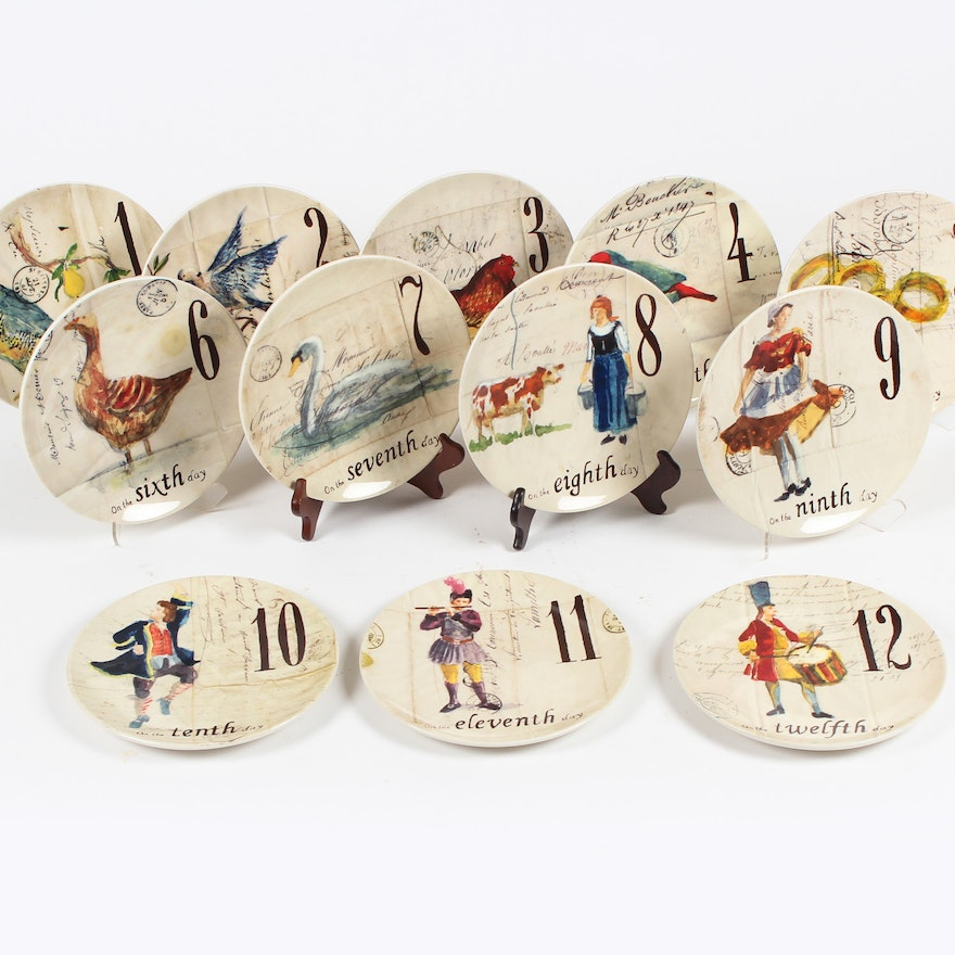 12 days of christmas plates by williams sonoma