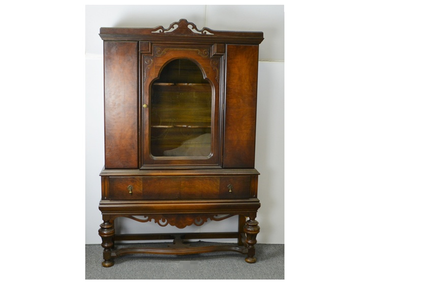 Antique Jacobean Style China Cabinet : EBTH