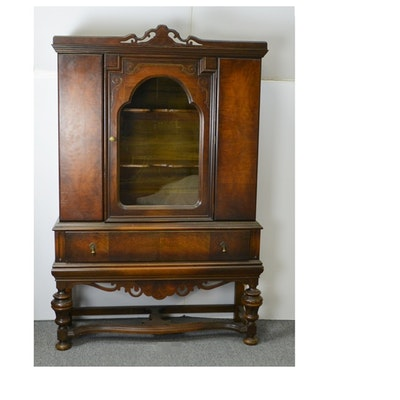 Antique Jacobean Style China Cabinet - Vintage And Antique Cabinets Auction In Bellevue, Kentucky Personal