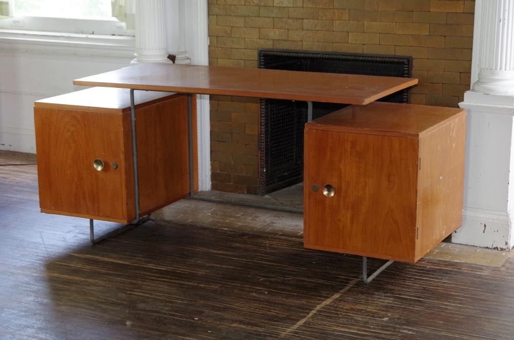 Brazilian cherry mid century modern desk ebth - Brazilian mid century modern furniture ...
