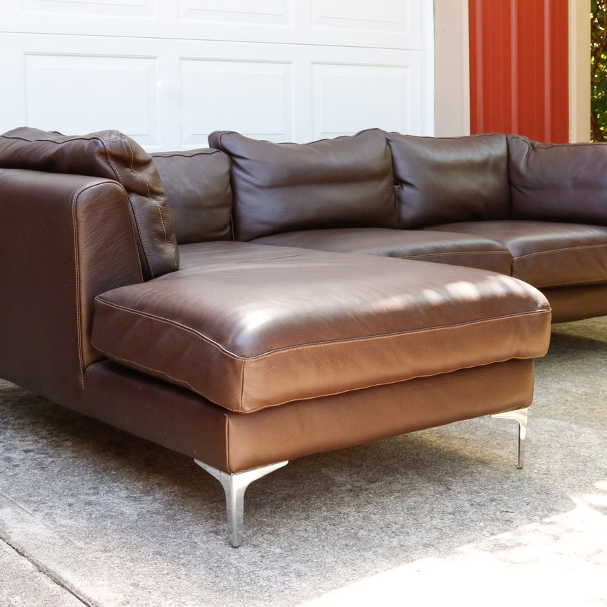 Albert Leather Chaise Sectional From Design Within Reach