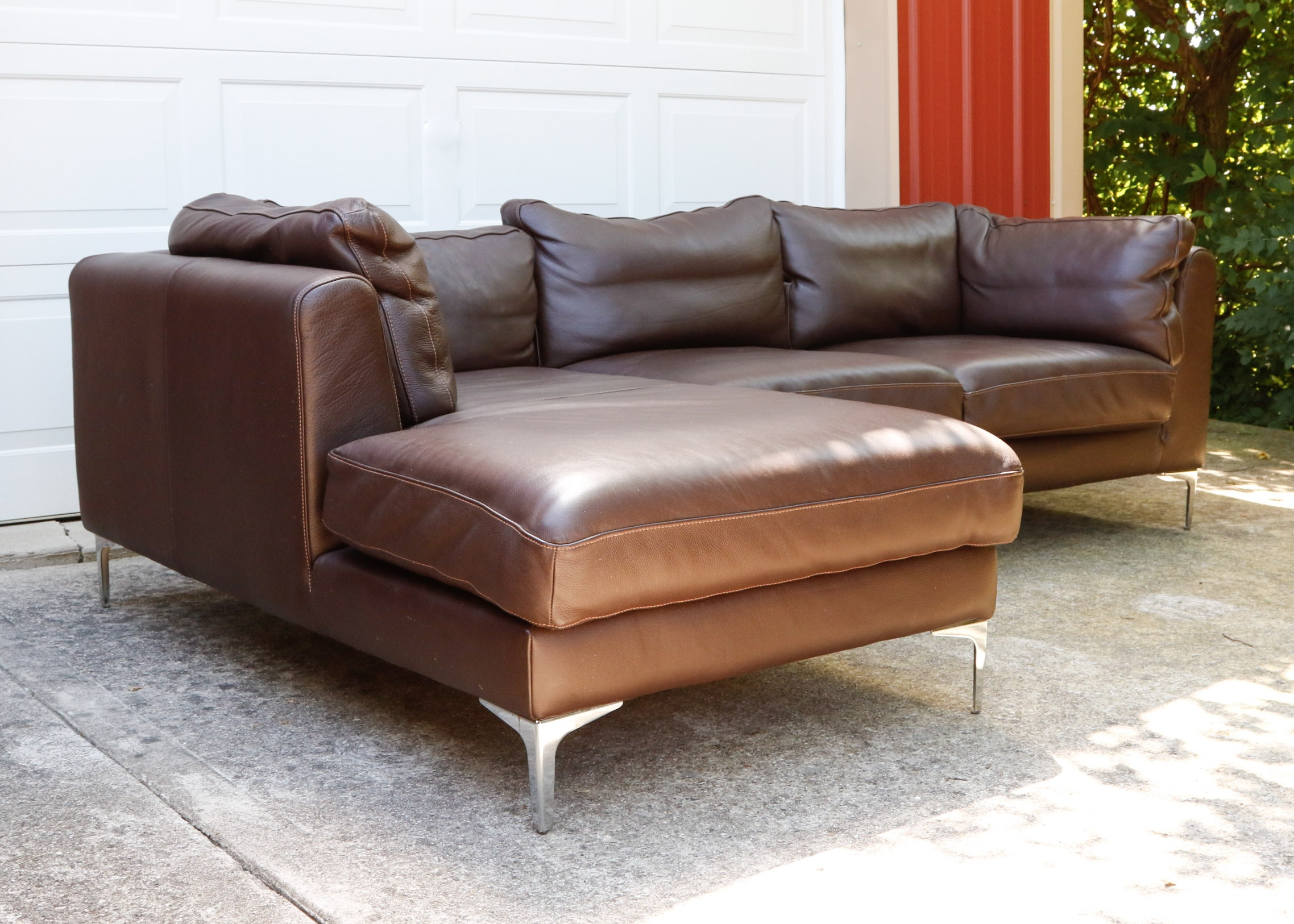 Albert Leather Chaise Sectional From Design Within Reach ...
